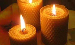 Свечи из вощины своими руками