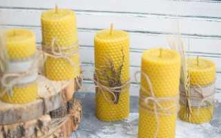 Свечи из воска своими руками